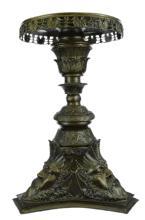 French Rococo, Zeus Bronze Pedestal Table