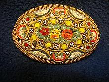 Italian Micro-Mosaic Brooch, Floral Motif.