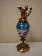 Sevres style 19th C gilded Urn