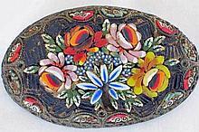 Beautiful Vintage Floral Mosaic Italian Brooch