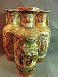 Three early C20th Japanese vases decorated with La