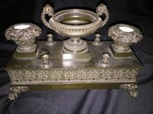 Circa 1870 Napoleon III Bronze Inkstand