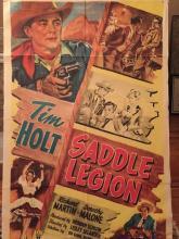 Original 1951 Western Movie Poster, Saddle Legion