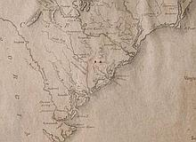 Revolutionary War Map of the Southeast US