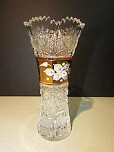 Vintage Hand Cut Caesar Crystal Vase