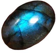 18.60 Cts Aaa Natural Labradorite Blue Flahsy Loose Gemstone Oval Shape Cabochon