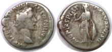 138-161 AD Roman Empire Antoninus Pius Minerva Silver Denarius