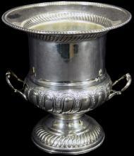 Circa 1930's Vintage English Sterling Champagne Bucket