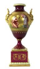 Royal Viennna Vase, Hand Painted