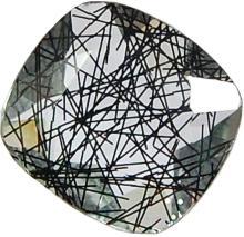 36.70 Cts Aaa Black Rutile Quartz Glass Translucent Gemstone