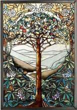 MI Hummel/Glassmasters 9-1/4 by 13-1/4-Inch Tree of Life Stained Glass Panel