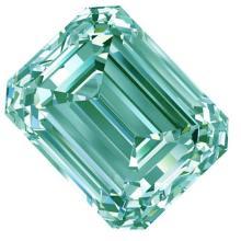 3.51 Ct Vvs1/White Blue Color Loose Emerald Square Moissanite
