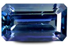3.12 ct PGTL Certified Best Octagon Shape (11 x 6 mm) Bluish Violet Tanzanite