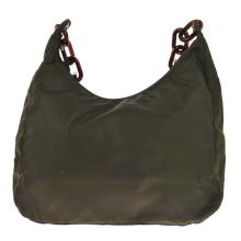 Authentic PRADA Nylon Olive Brown Purse Bag