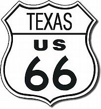 Route 66 Texas Reproduction Metal Sign