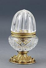 Acorn-shaped Crystal Jewelry Casket, Box.