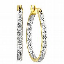 Lovely Diamond Hoop Earrings