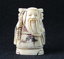 Hand Carved Ivory Netsuke Figure of a Man