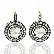 Victorian-Inspired Antique Cut Diamond Earrings