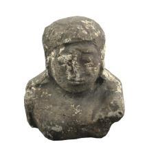 Ancient Artifact Fragment, Bust of Serene Buddha