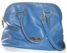 Ivanka Trump Blue And Gold Designer Bag Zipper Closure