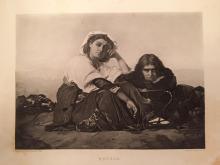 1880's Photogravure, Italian Peasants, Repose