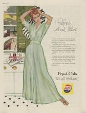 1956 Pepsi, Refresh Red Haired Beauty Ad
