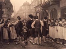 1880's Photogravure Print, Servants Fair