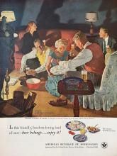 1951 US Brewers Beer Magazine Ad Art