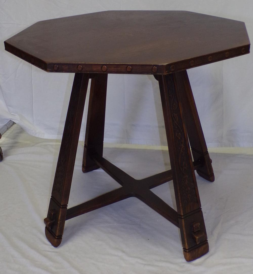 Late 19th/early 20th C Oak Arts & Crafts Style Table