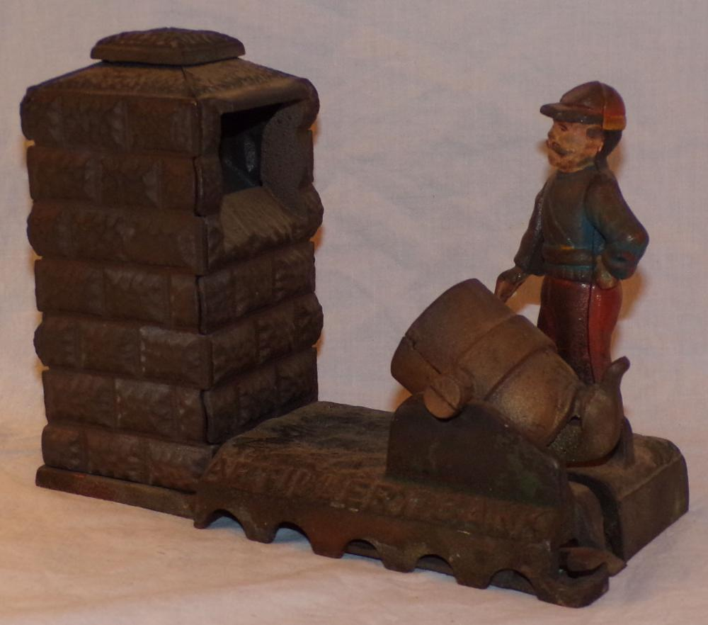 Vintage Cast Iron Mechanical Bank-Artillery Bank