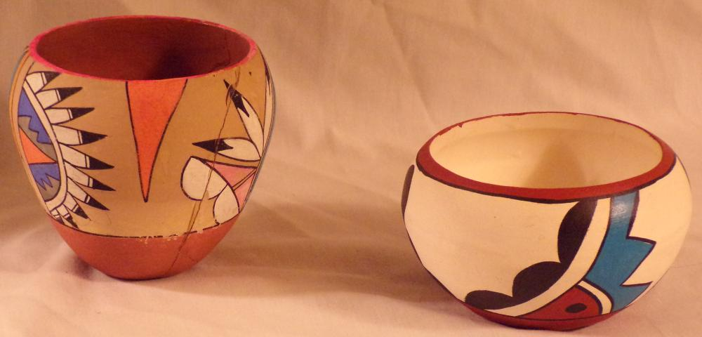 Native American/Southwestern U.S. Pottery Bowl AND A Southwest Pottery Pot