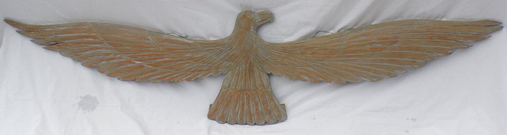 Carved Softwood Eagle With Wings Extended