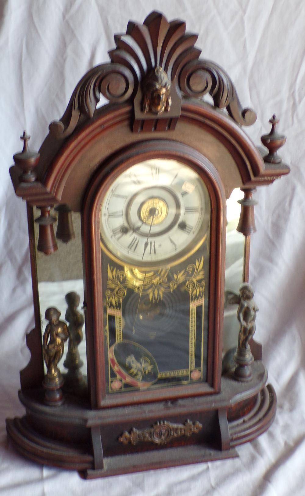 New Haven Victorian 8 Day Occidental Shelf Clock
