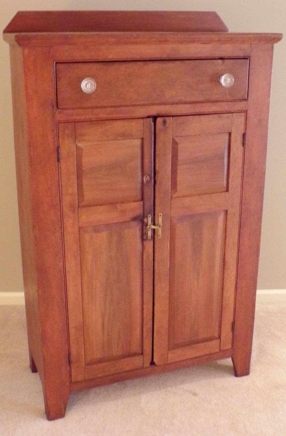 19th C Country Pine Jelly Cupboard