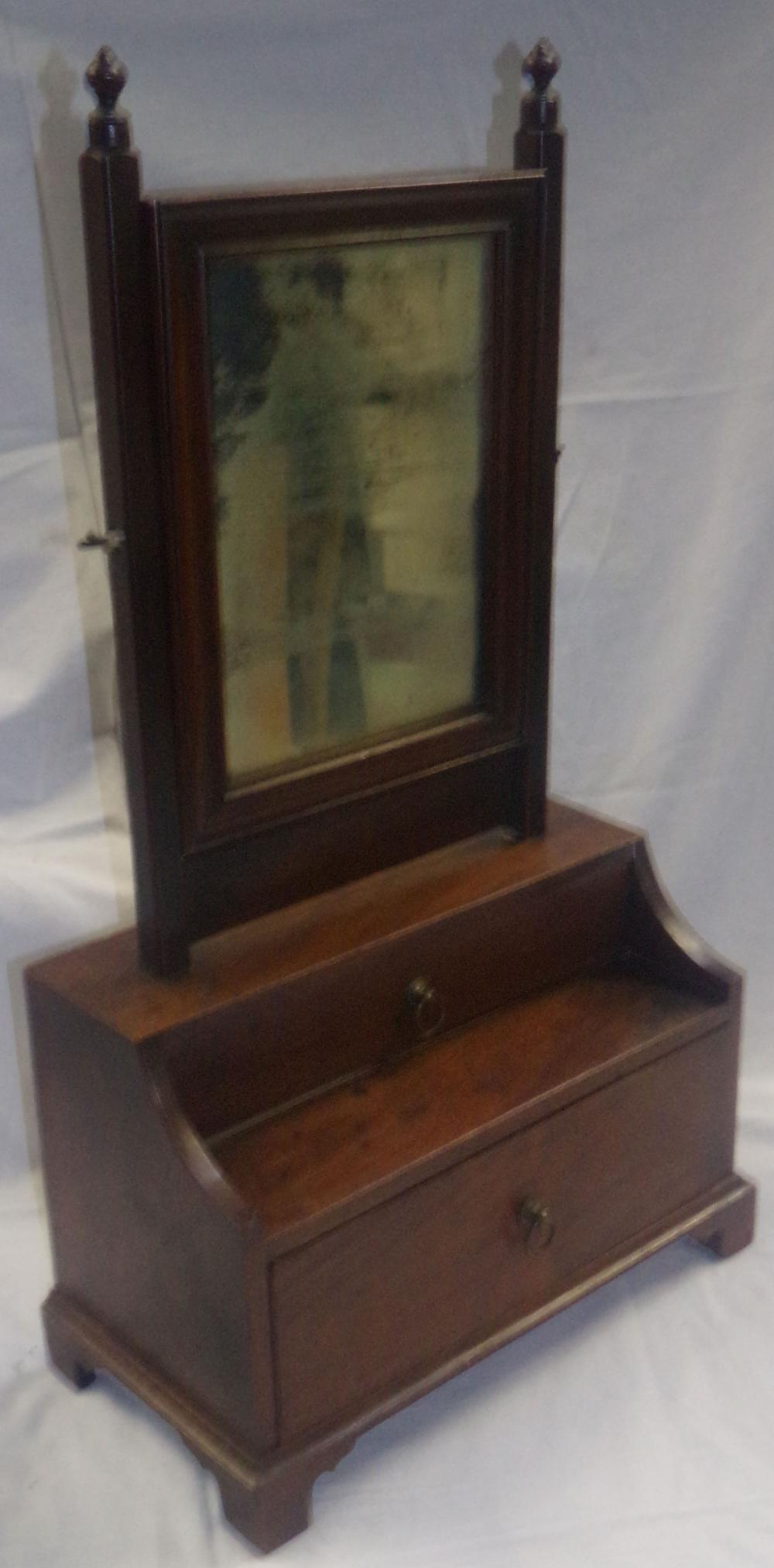 Late 18th/early 19th C Mahogany Shaving Mirror