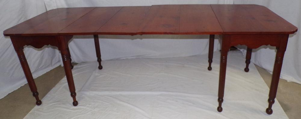19th C Late Sheraton Banquet Table in 2 Pieces