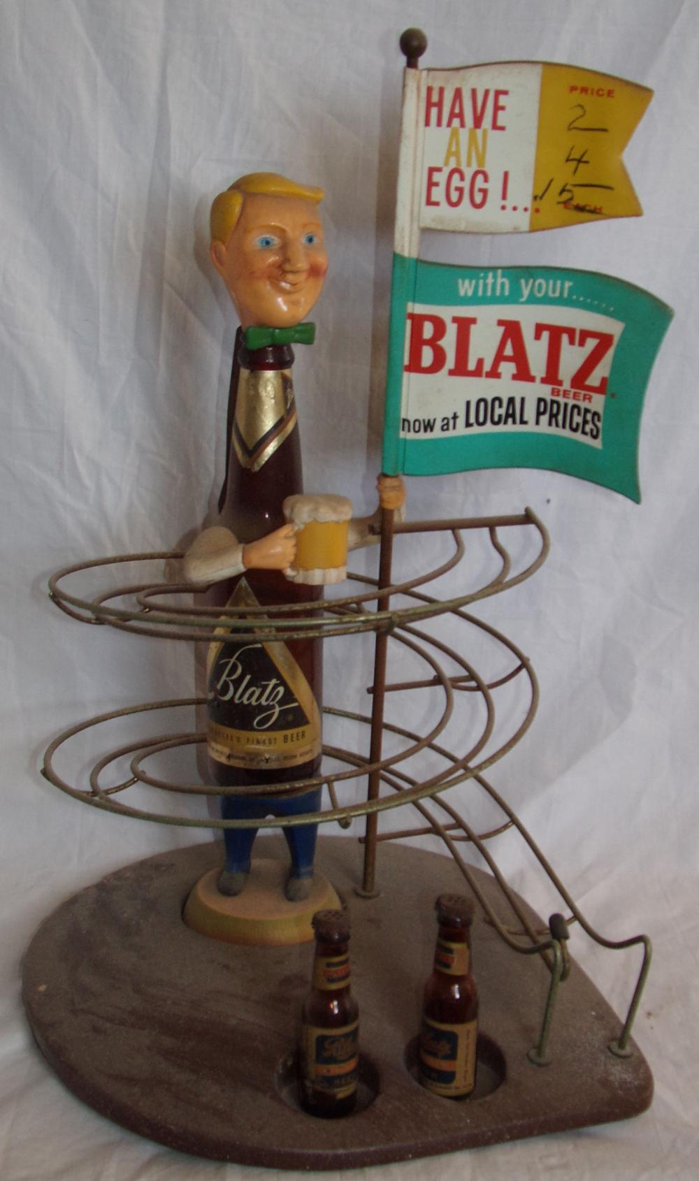 Blatz Beer back bar statue