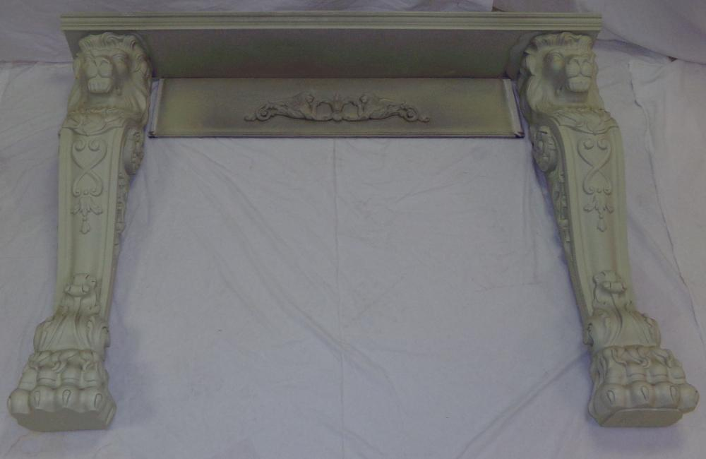 Contemporary carved Wooden Mantel