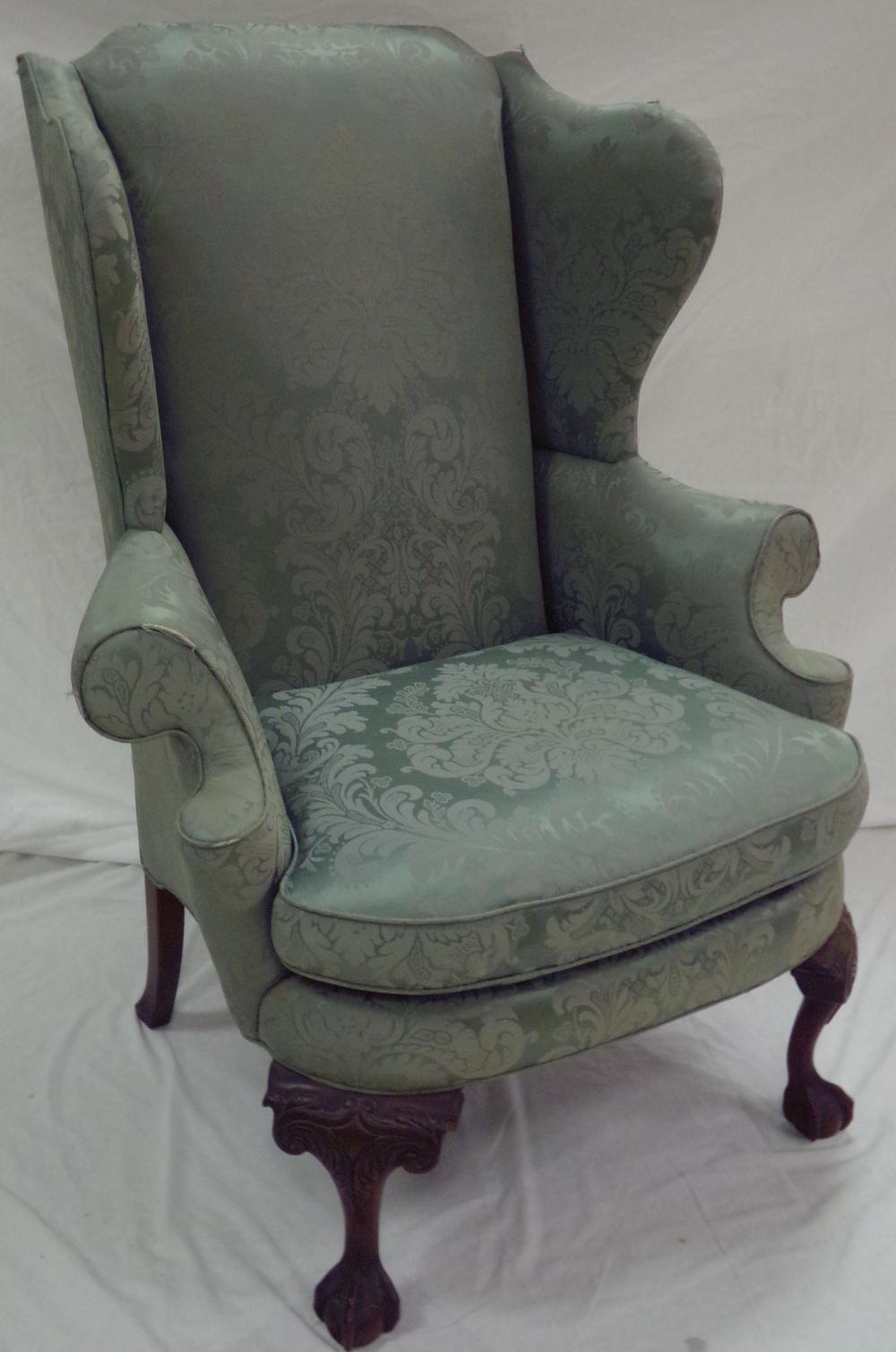 Stylized Chippendale Wing Chair