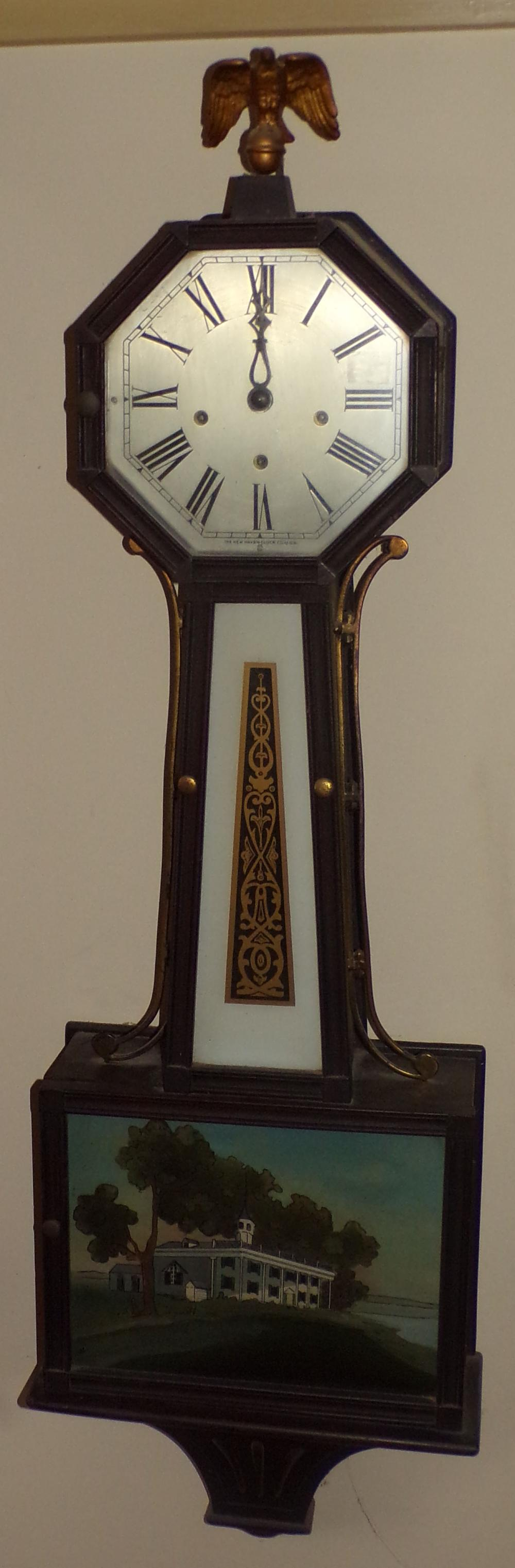 1st/2nd Quarter 20th C Vintage New Haven Banjo Clock