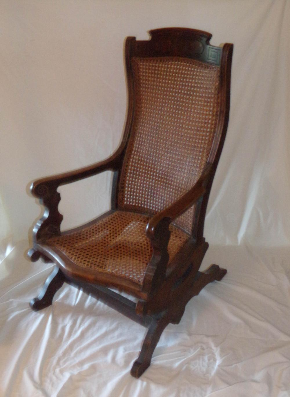 Peachy Victorian Walnut Platform Rocking Chair Gmtry Best Dining Table And Chair Ideas Images Gmtryco