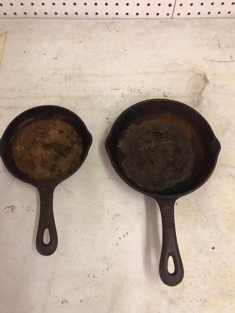 2 Cast Iron Skillets 8' Inch, and a 6' Inch