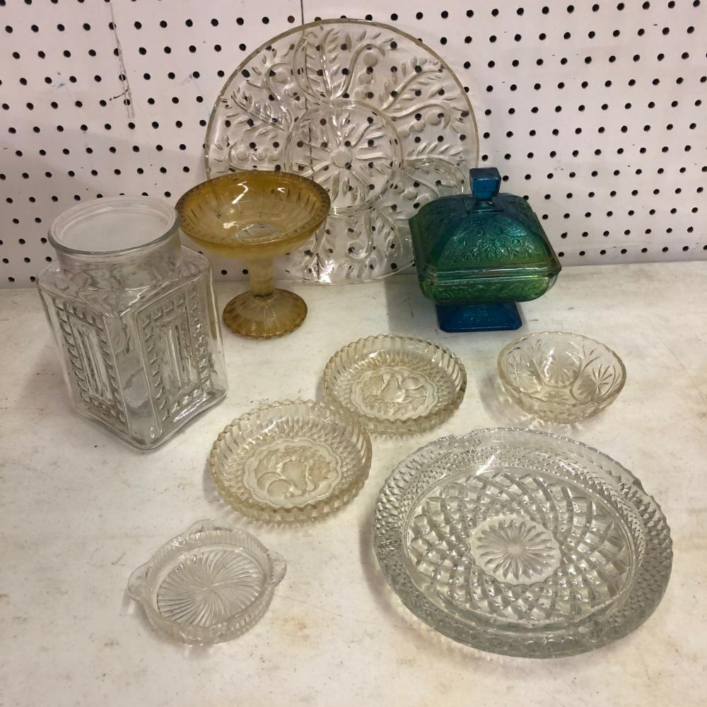 Crystal Dishes, Fruit Tray, Ash Trays and Bowls
