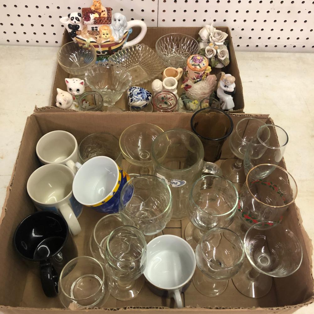 Coffee Cups, Shot Glasses, Wine Glasses, and Bowls