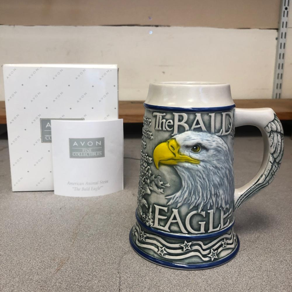 "Avon American Animal Stein ""The Bald Eagle"""