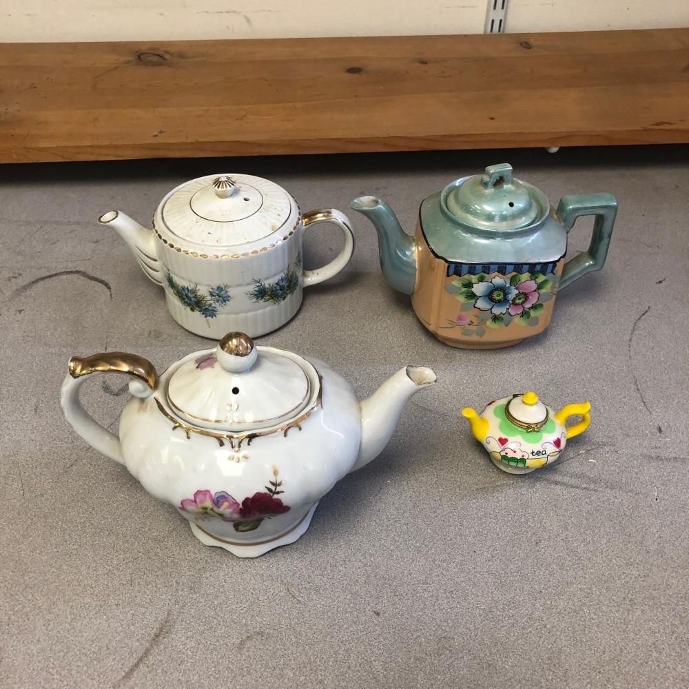 4 Teapots - Genuine Heatmaster England, Japan, and a Music Box