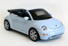 SHARPER IMAGE DESIGN ZipConnect Stereo Beetle, Model # GT805, radio and CD player in shape of small blue car, NOT WORKING