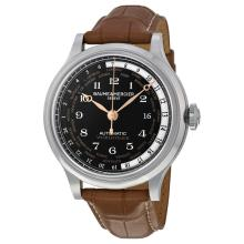 Baume & Mercier Worldtimer Black Dial Brown Leather Mens Watch M0A10134. Limited Edition One out of 100