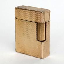 Vintage genuine St DuPont small Gold Plated Pocket Lighter. Made in France Paris